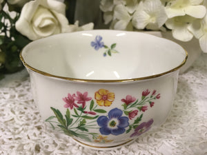 Royal Standard, Country Lane, spring flowers, Creamer and Sugar Bowl c.1960s