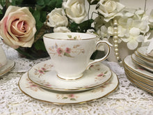 Load image into Gallery viewer, Duchess, Glen 316 pattern, vintage pink floral tea cup trio tea set. c.1960s