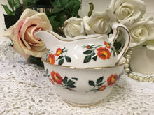 Load image into Gallery viewer, Crown Royal, Orange Roses, Creamer and Sugar Bowl c.1960s