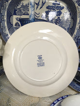 Load image into Gallery viewer, Johnson Bros, Willow, Plate Blue and White Ceramics c.1940 to c.1959