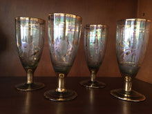 Load image into Gallery viewer, Antique Gold Stemmed Wine Glasses