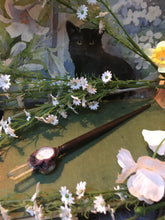 Load image into Gallery viewer, Wand, Oak, Moonstone, White Labradorite, Crystal Wand, Chakra, Third Eye Chakra