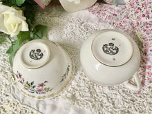 Load image into Gallery viewer, Royal Grafton, Spring flowers, Gold Floral Vintage Creamer and Sugar Bowl.