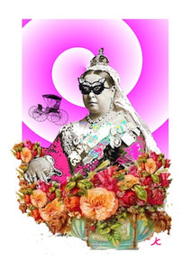 "Queen Victoria. ""The Opera Graces"". A4 print. 250gsm. Chic Arty."