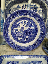 Load image into Gallery viewer, Alfred Meakin, England, Old Willow, Blue and White Plate c.1940s