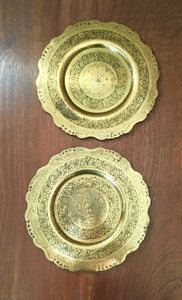 Antique Brass Trays c.1900