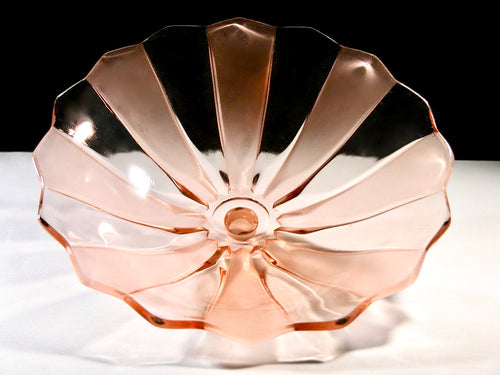 Art Deco, pressed glass bowl by Walther & Sohne