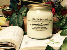 Load image into Gallery viewer, Sandalwood. Pure Soy Wax Candles. Size 12oz / 345 ml (Large).