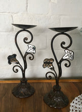Load image into Gallery viewer, Antique Pair of Candlestick Holders.