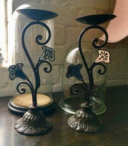 Antique Pair of Candlestick Holders.