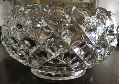 Antique, Victorian Cut Glass Bowl