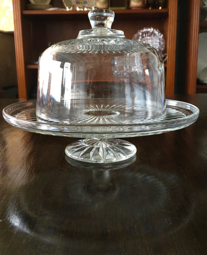 19th Century Tazza with Glass Dome