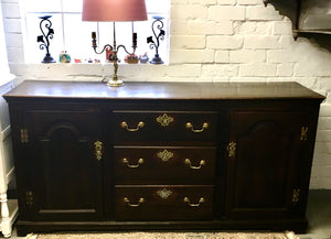 Antique Welsh Oak Dresser Base.