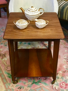 Tea Trolley, Mid Modern Century, Retro Teak Tea Trolley.