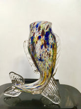 Load image into Gallery viewer, Murano, Glass Fish Sculpture, Vase, Venetian Glass, Italy