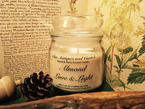 Almond with sweet lemongrass. Love and Light Candle collection.