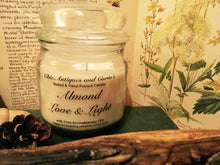 Load image into Gallery viewer, Almond with sweet lemongrass. Love and Light Candle collection.
