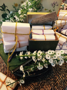 Honey Soap Gift Set. Three Honey Soaps with Lemongrass, Chamomile & Lavender.