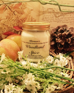 Woodland Spice. Pure Soy Wax Candle. 12oz / 345ml (Large). Aromatherapy Essential Oils