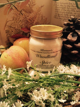 Load image into Gallery viewer, Woodland Spice. Pure Soy Wax Candle. 12oz / 345ml (Large). Aromatherapy Essential Oils