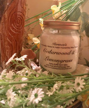 Load image into Gallery viewer, Cedarwood. Lemongrass. Pure Soy Wax Candle. 12oz / 345ml (Large). Aromatherapy Essential Oils