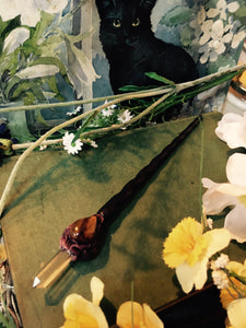 Wand, Golden Tiger's Eye, Throat Chakra, The Crown Chakra, Crystal Wand