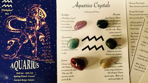 Aquarius Birthstone Set, Aquarius Crystals