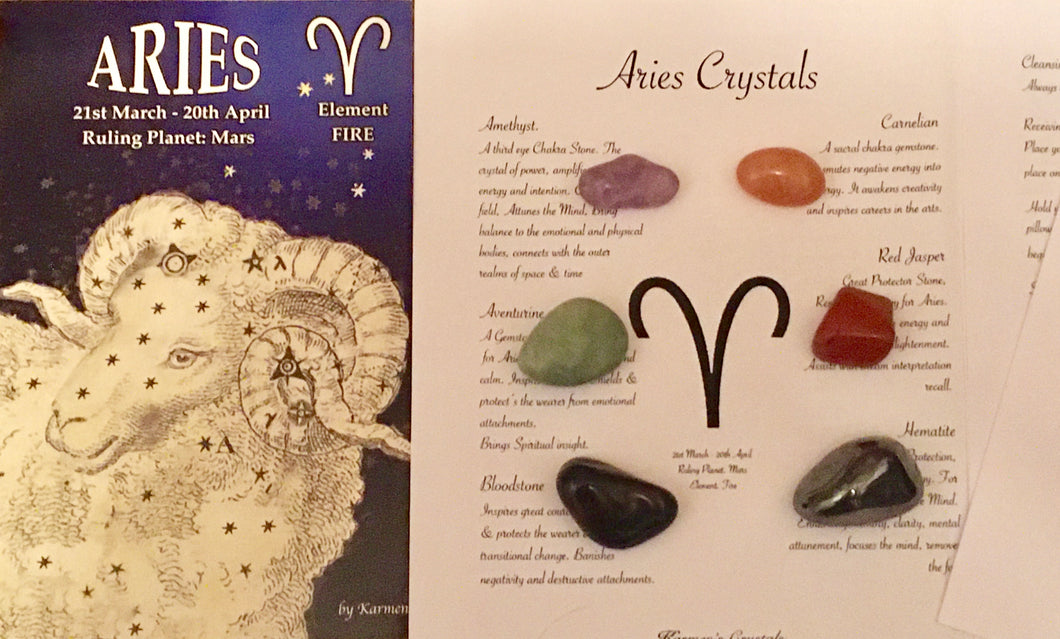 Aries Birthstones Crystal Set, Aries Crystals
