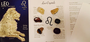 Leo Birthstones Crystal Set, Leo Crystals