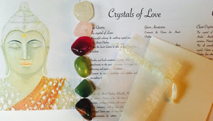 Crystals of Love Set. Crystals of Protection.  Crystals for the Heart. Buddha Love