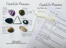 Load image into Gallery viewer, Crystals for Protection.  Crystals of Protection.