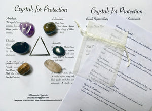 Crystals for Protection.  Crystals of Protection.