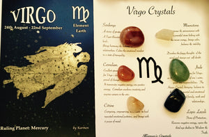 Virgo Birthstones Crystal Set, Virgo Crystals
