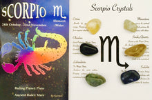 Load image into Gallery viewer, Scorpio Birthstone Set, Scorpio Crystals, Scorpio Crystal set