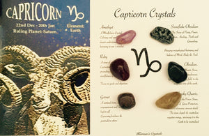 Capricorn Birthstone Set, Capricorn Crystals