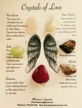 Load image into Gallery viewer, Crystals of Love Set. Crystals of Protection.  Crystals for the Heart. Angel Wings.