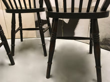 Load image into Gallery viewer, Antique Furniture, Windsor Chairs, Four Set, Victorian c.1890.