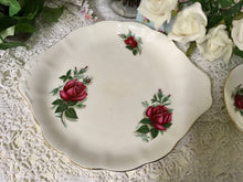 Load image into Gallery viewer, Royal Albert, Red Rose, Sandwich Plate signed by the artist FF Errill c.1950