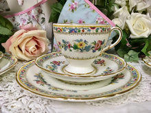 Load image into Gallery viewer, E B Foley Ming Rose pattern, tea cup trio set. c.1950s
