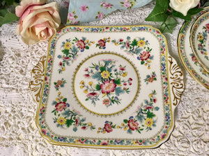 E B Foley, Ming Rose pattern, cake or sandwich plate c.1950s.