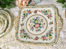 Load image into Gallery viewer, E B Foley, Ming Rose pattern, cake or sandwich plate c.1950s.