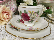 Load image into Gallery viewer, Crown Royal, vintage rose tea cup trio set c.1930s
