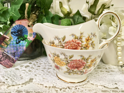 Colclough, Creamer & Sugar Bowl set. Amanda pattern.