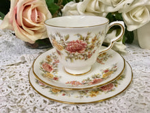 Load image into Gallery viewer, Colclough, Amanda pattern, Autumn flowers. Tea Cup Trio. c.1960s
