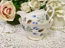 Load image into Gallery viewer, Colclough, Crisp Blue Leaves, Liden pattern, Creamer and Sugar Bowl c.1960s