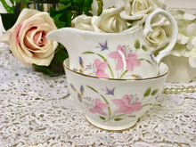 "Load image into Gallery viewer, Duchess, ""Pink Flowers, Creamer and Sugar Bowl c.1960s"
