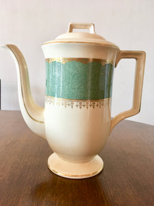 Art Deco, Coffee Pot, Vintage, Johnson Bros, c1930.