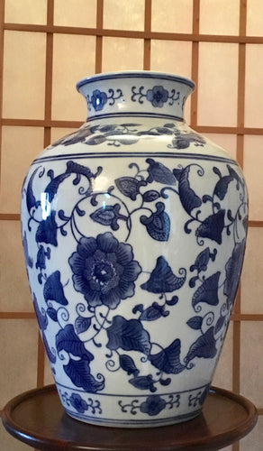 Antique, Kangxi Vase, Blue and White.