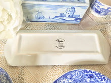 Load image into Gallery viewer, Spode, Blue and White Transfer, Mint Tray.  Italian pattern. Vintage c.1930s