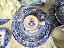 Load image into Gallery viewer, Antique, Rare, Blue and White, Tea Cup Trio Set, W. R. Midwinter, c.1910